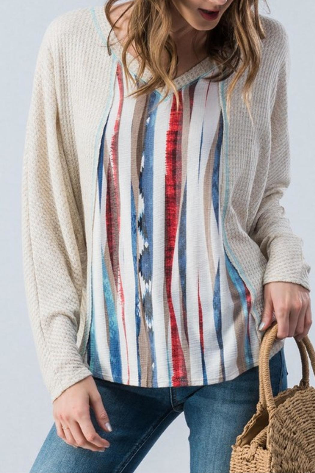 Trend:notes Waffle Knit Top - Main Image