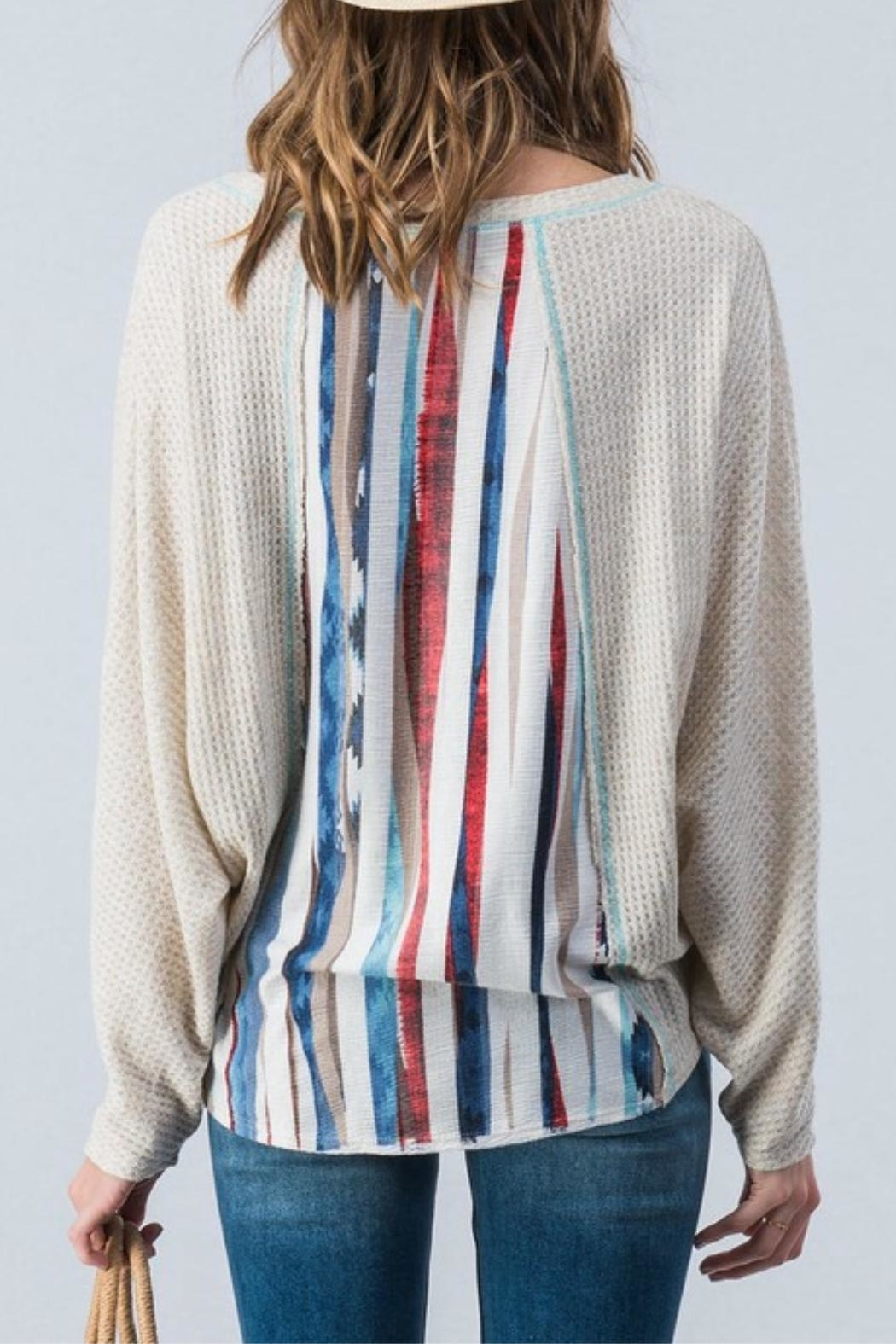 Trend:notes Waffle Knit Top - Front Full Image