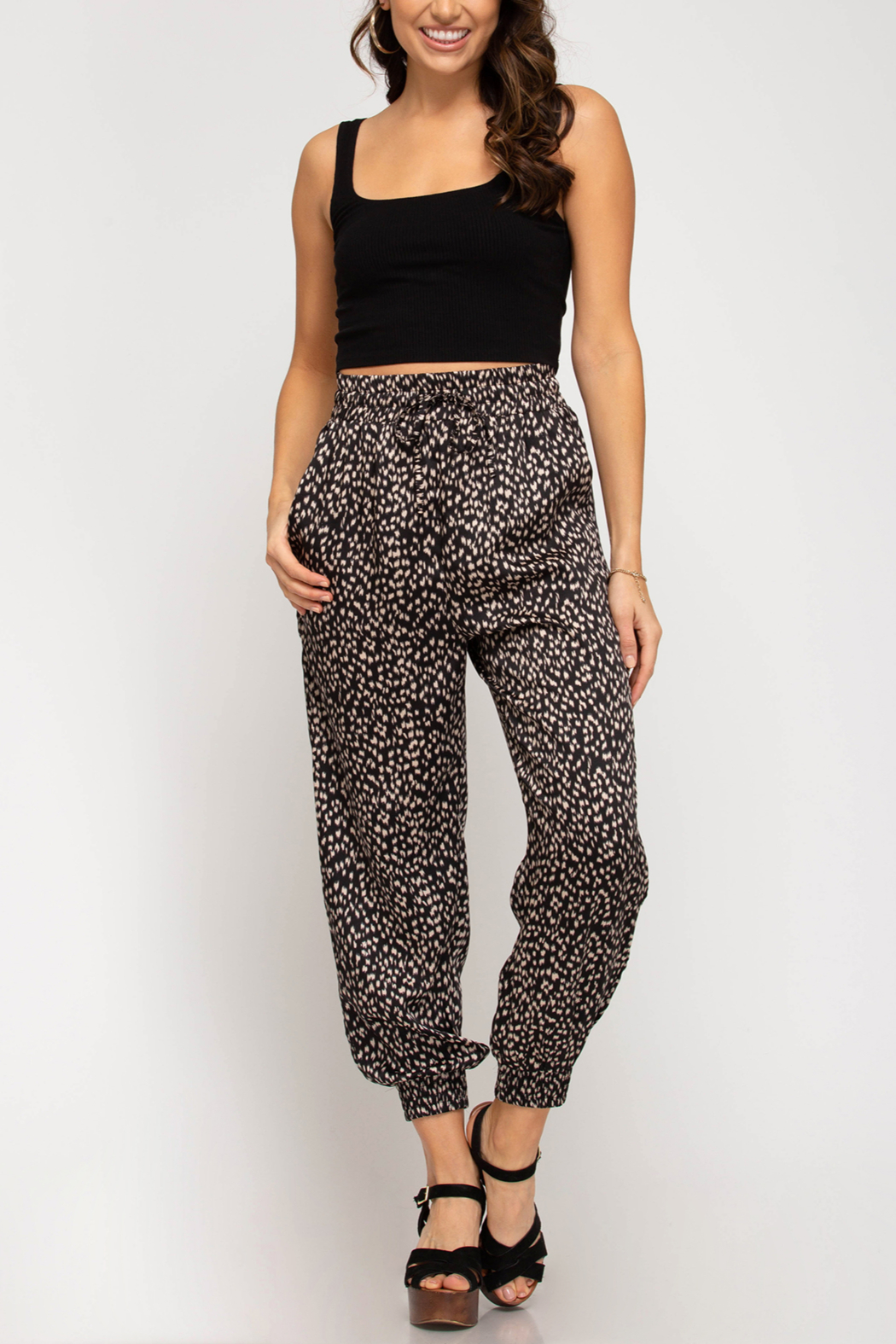 She and Sky Trend Setter pants - Front Cropped Image