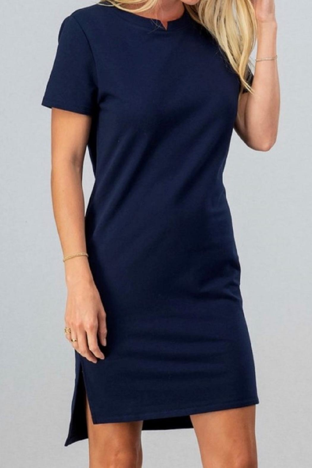trend notes Casual Tee Dress - Front Cropped Image
