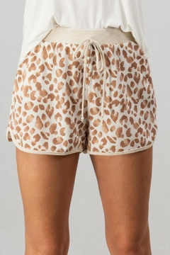Shoptiques Product: Leopard Track Shorts