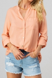 trend notes Rayon Button-Down - Product Mini Image