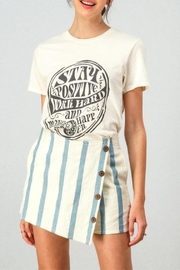 En Creme Summertime Stripe Skort - Product Mini Image