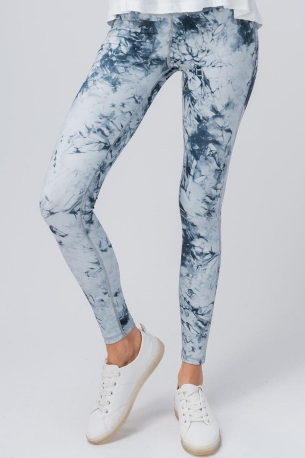 trend notes Tie Dye Leggings - Main Image