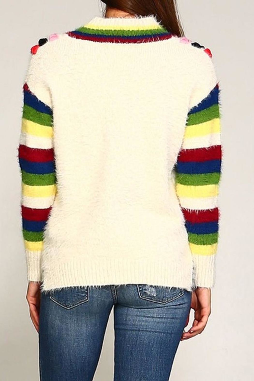 Trendology Multi-Color Furry Sweater - Side Cropped Image
