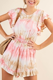 KORI AMERICA Trends Of Tie Dye Romper - Product Mini Image