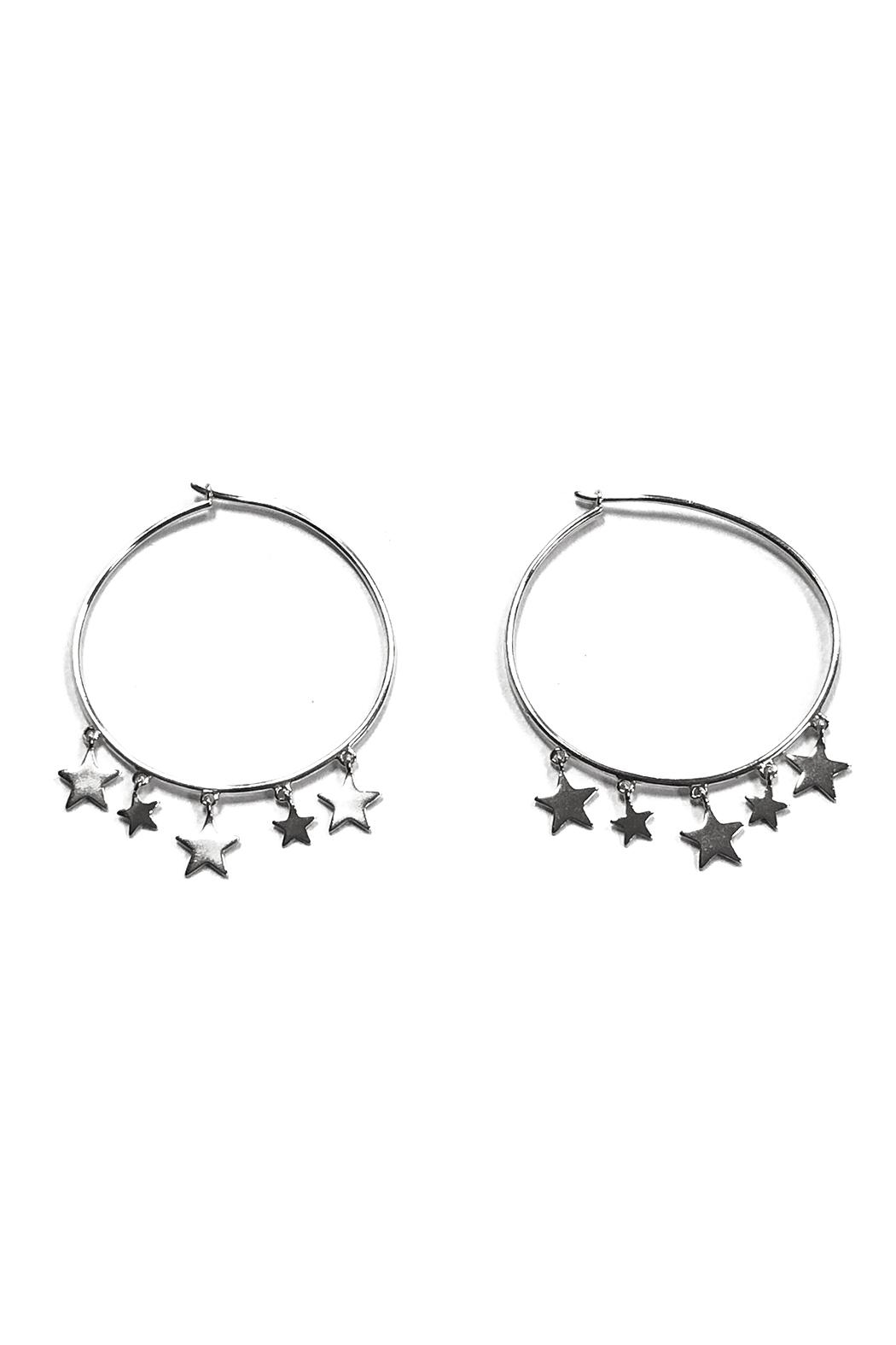 Lets Accessorize Trendy Star Hoops - Front Cropped Image