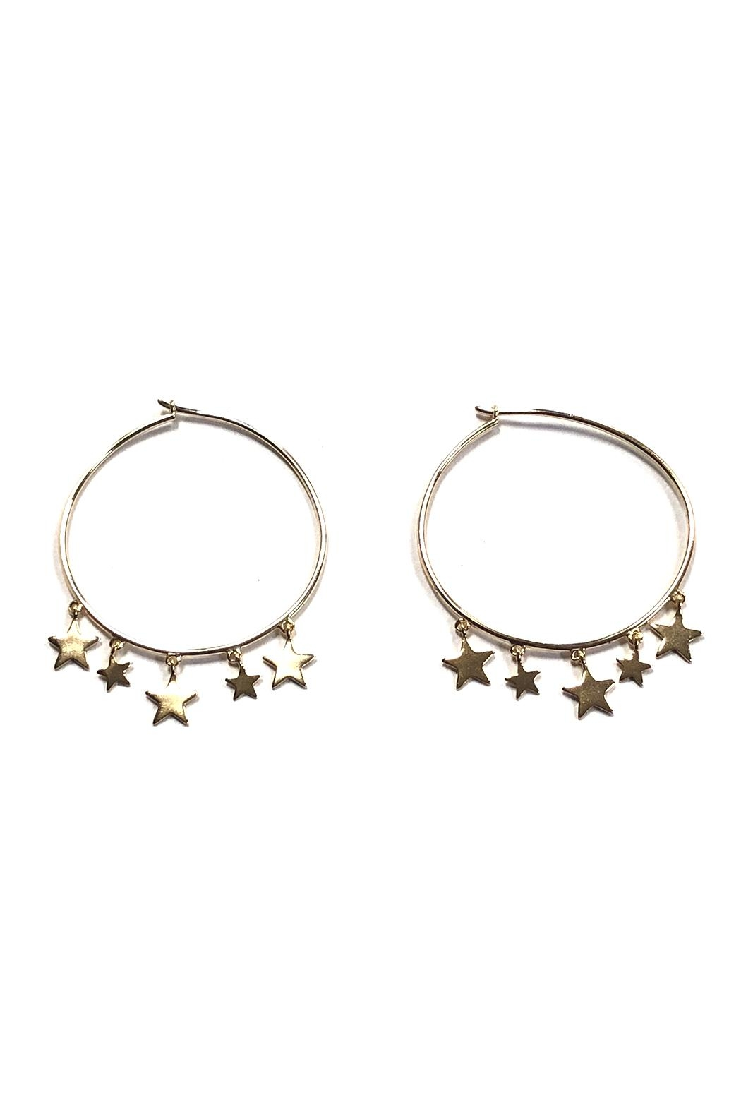 Lets Accessorize Trendy Star Hoops - Main Image