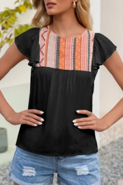 Lily Trendy Tribal top - Product Mini Image