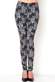 trendy u Floral-Lace Brushed Leggings - Product Mini Image
