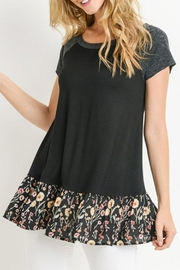 trendy u Ruffle Hem Top - Front cropped
