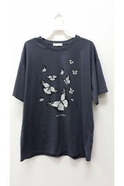 Tres Bien Butterfly Print T-Shirt - Product Mini Image