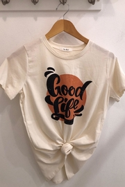 Tres Bien Good Life Cream Graphic Tee - Product Mini Image
