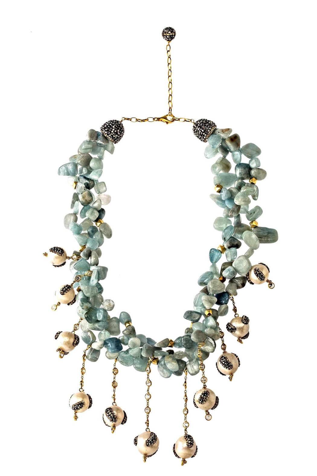 Tresca Italia Blue Larimar Pearl Necklace - Front Cropped Image