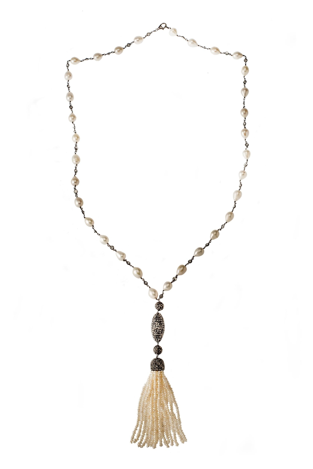 Tresca Italia Pear Silver Necklace - Front Cropped Image