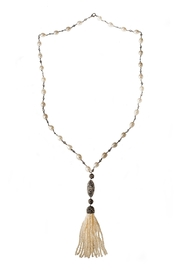 Tresca Italia Pear Silver Necklace - Front cropped