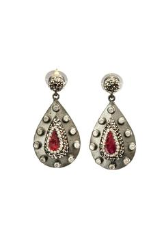 Shoptiques Product: Ruby Crystal Earrings