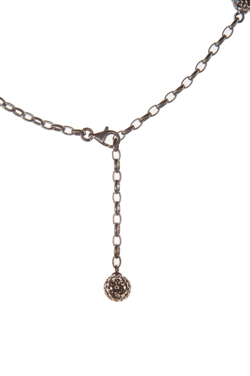 Tresca Italia Ruby Crystal Necklace - Side Cropped Image