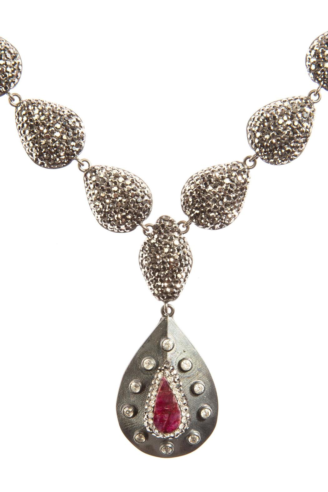 Tresca Italia Ruby Crystal Necklace - Front Full Image