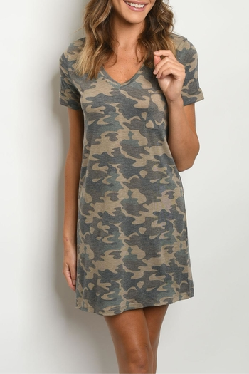 Tresics Camo Shift Dress from Kansas by twill tradE — Shoptiques