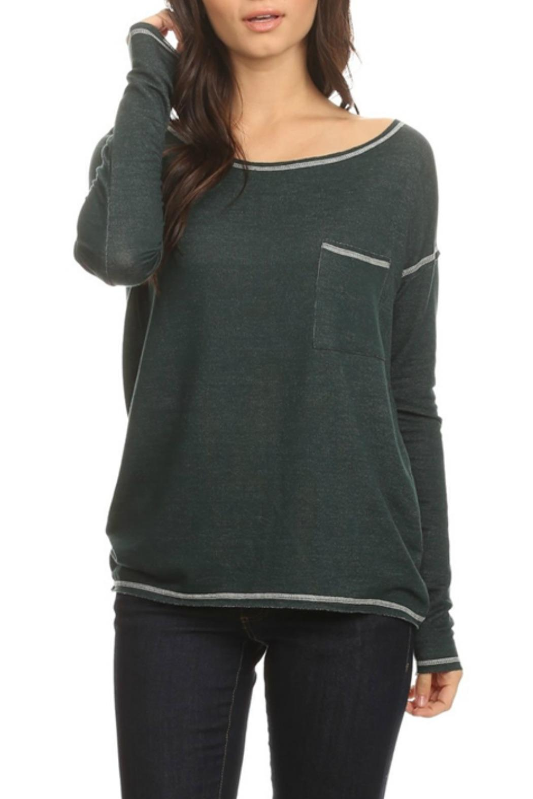 Tresics Relaxed Pocket Tee - Front Cropped Image