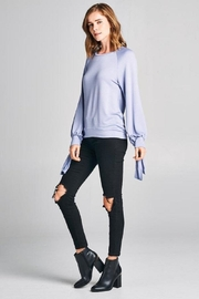 Tresics Tie Knit Top - Front cropped