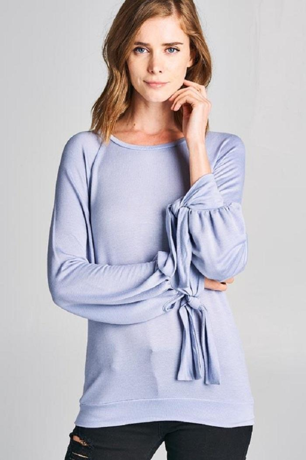 Tresics Tie Knit Top - Side Cropped Image