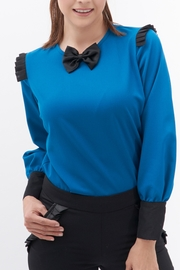 TREVE Blue Moño Blouse - Front cropped