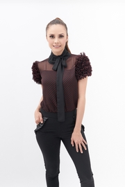 TREVE Red Mangotas Blouse - Front cropped