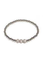 OMG Blings Tri-Ball Beaded Bracelet - Product Mini Image