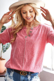 Bibi Tri-blend Knit Top - Product Mini Image