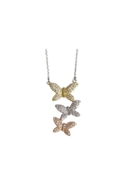 Lets Accessorize Tri-Color Butterfly Necklace - Product Mini Image