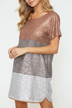 R+D Hipster Emporium  Tri-Color Sequin Dress - Product List Image