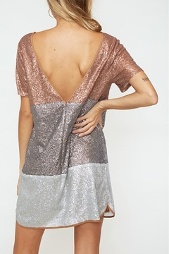 R+D Hipster Emporium  Tri-Color Sequin Dress - Alternate List Image