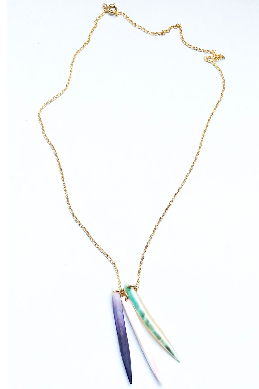 Lucia Moon Designs Tri-Color Shell Necklace - Main Image