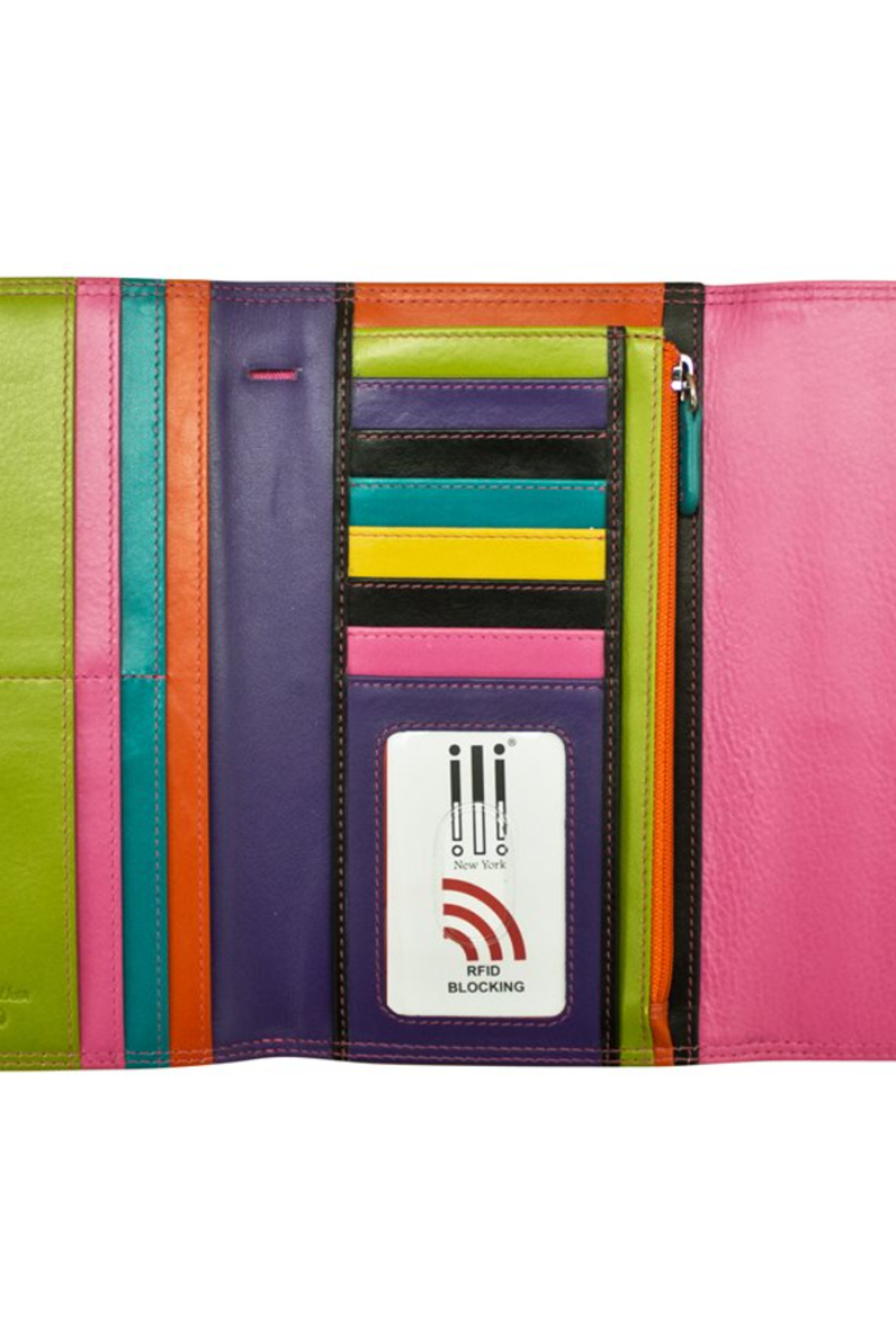 ILI Tri -Fold Leather Wallet - Front Full Image