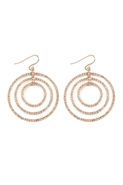 Riah Fashion Tri-Hoop-Pave Hook Earrings - Product Mini Image