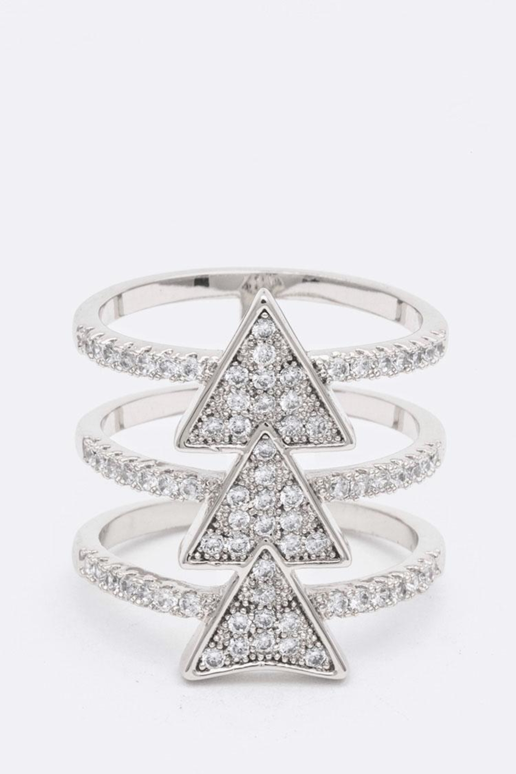 Nadya's Closet Triangle Bar Ring - Front Cropped Image