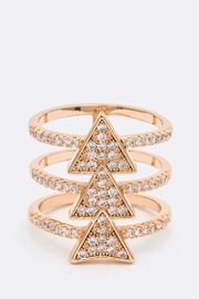 Nadya's Closet Triangle Bar Ring - Front cropped