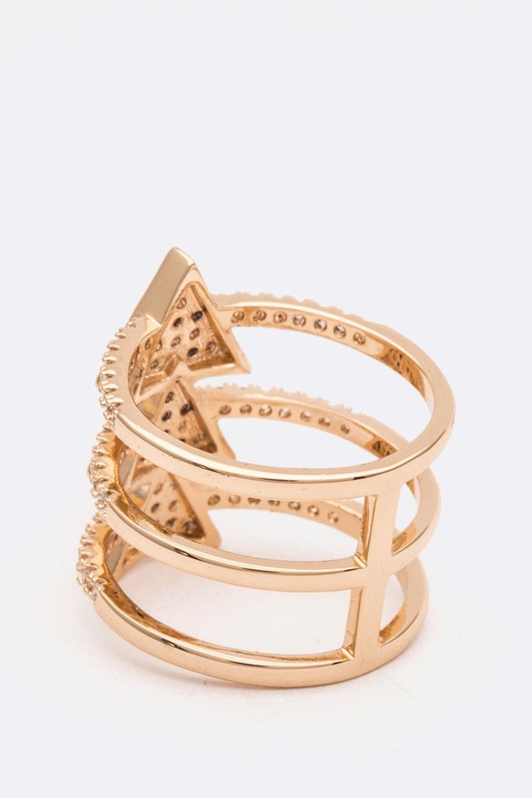 Nadya's Closet Triangle Bar Ring - Front Full Image