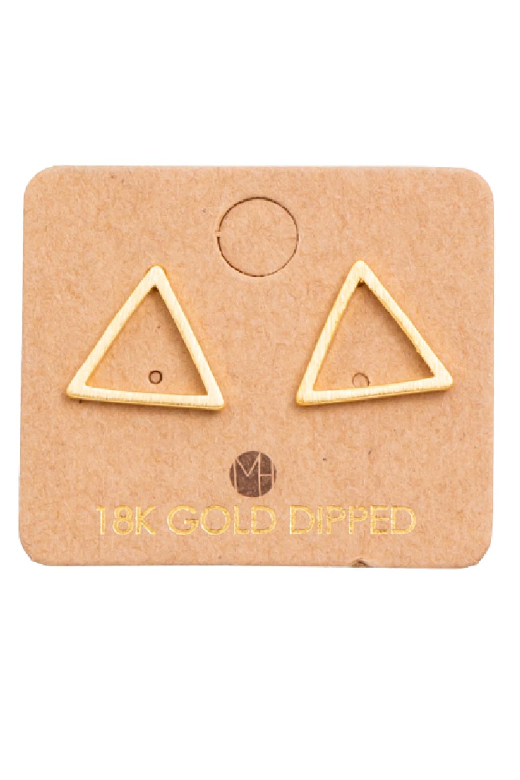 FAME ACCESORIES Triangle Cut Out Earring - Front Cropped Image