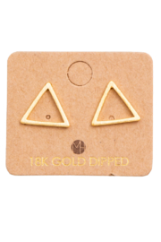 FAME ACCESORIES Triangle Cut Out Earring - Front cropped