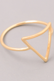 FAME ACCESORIES Triangle Cut Out Ring - Product Mini Image