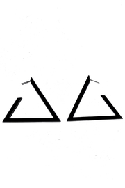 Minx Triangle Earrings - Front cropped