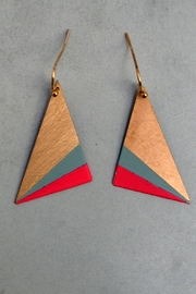Linie Clara Kaesdorf Triangle Earrings Mint-Pink - Product Mini Image