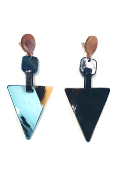Shoptiques Product: Triangle Hanging Earrings