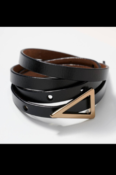 Shoptiques Product: Triangle Metal Buckle Leather Belt