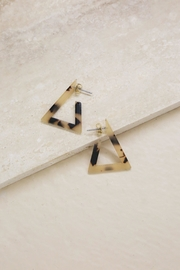 Ettika Triangle Resin Earrings - Product Mini Image