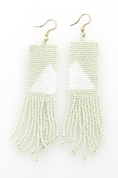 Ink + Alloy Triangle Seed Bead Earring - Alternate List Image