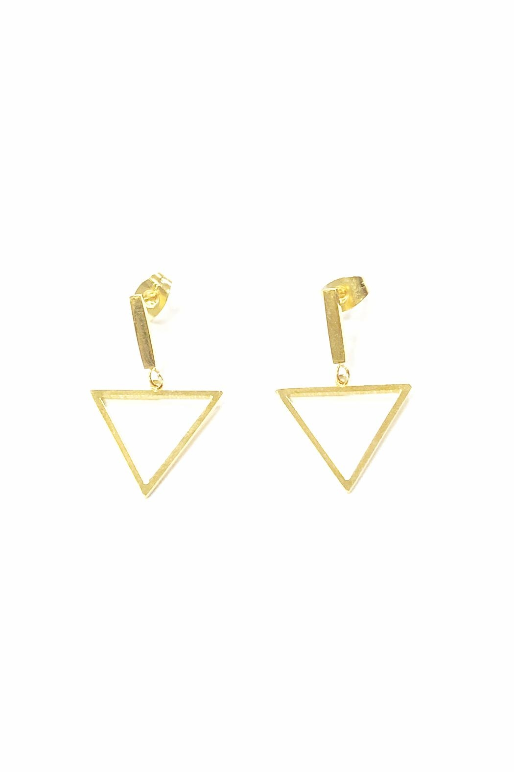 Lets Accessorize Triangular Drop Earrings Front Cropped Image